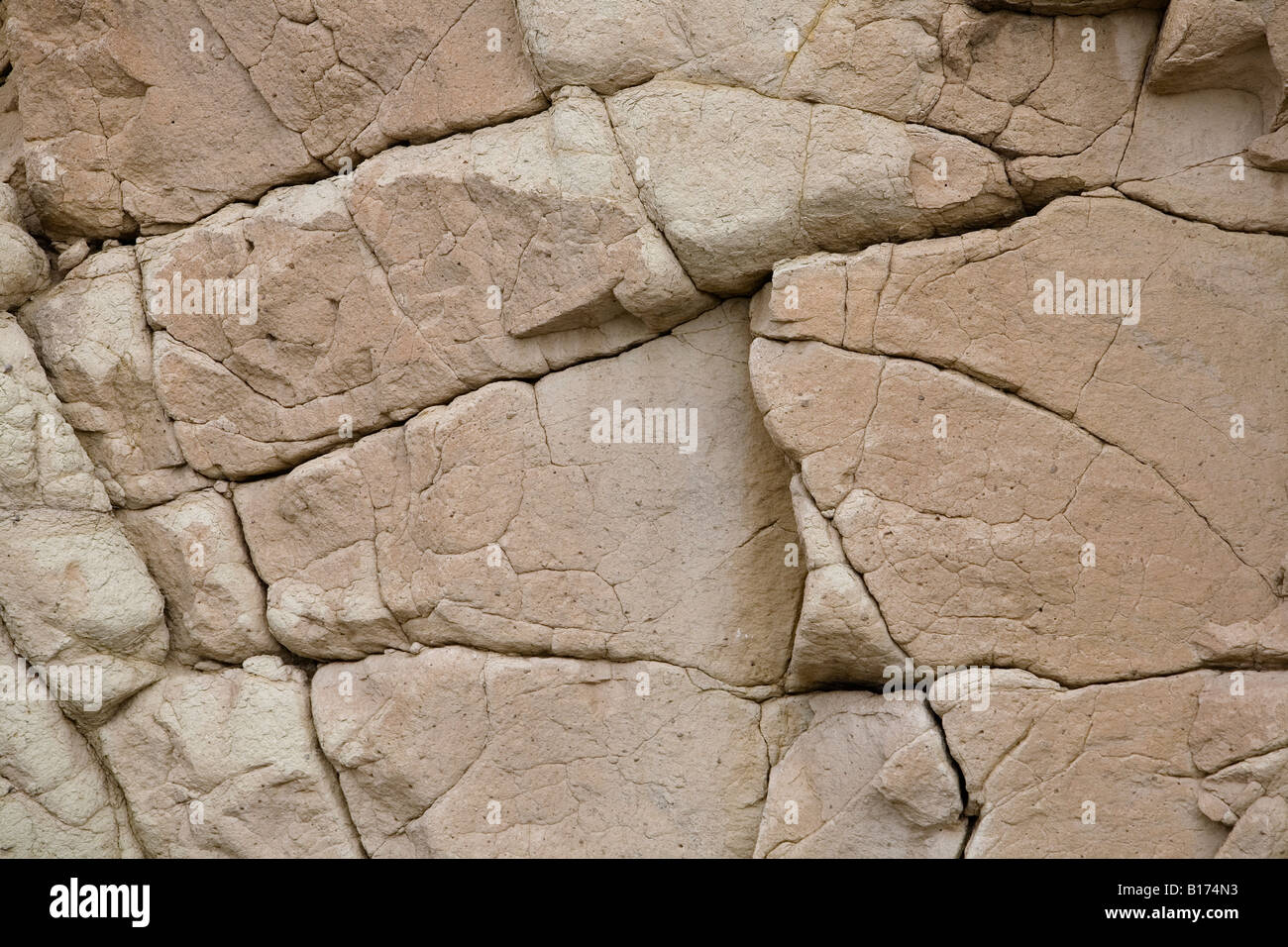 an old natural stone texture with cracks Stock Photo