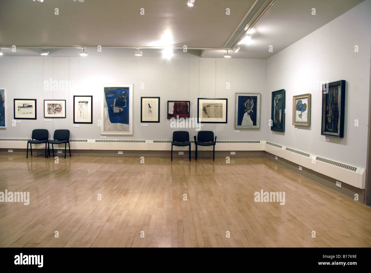 Exhibition of Paintings Royal Cambrian Academy Art Gallery Conwy Stock Photo
