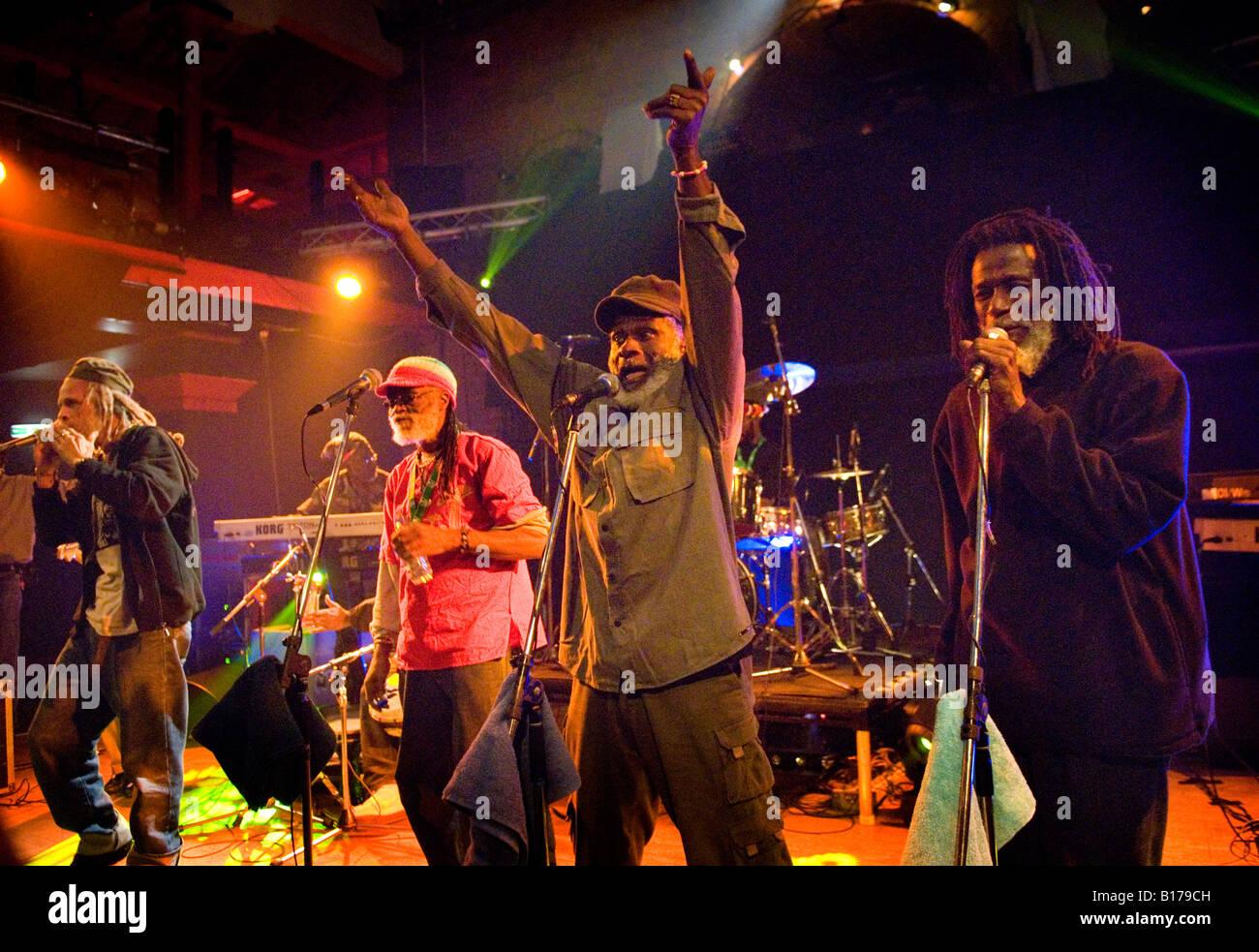 Reggae band The Congos in concert at The Buttermarket, Shrewsbury, England, November 2006 - Stock Image