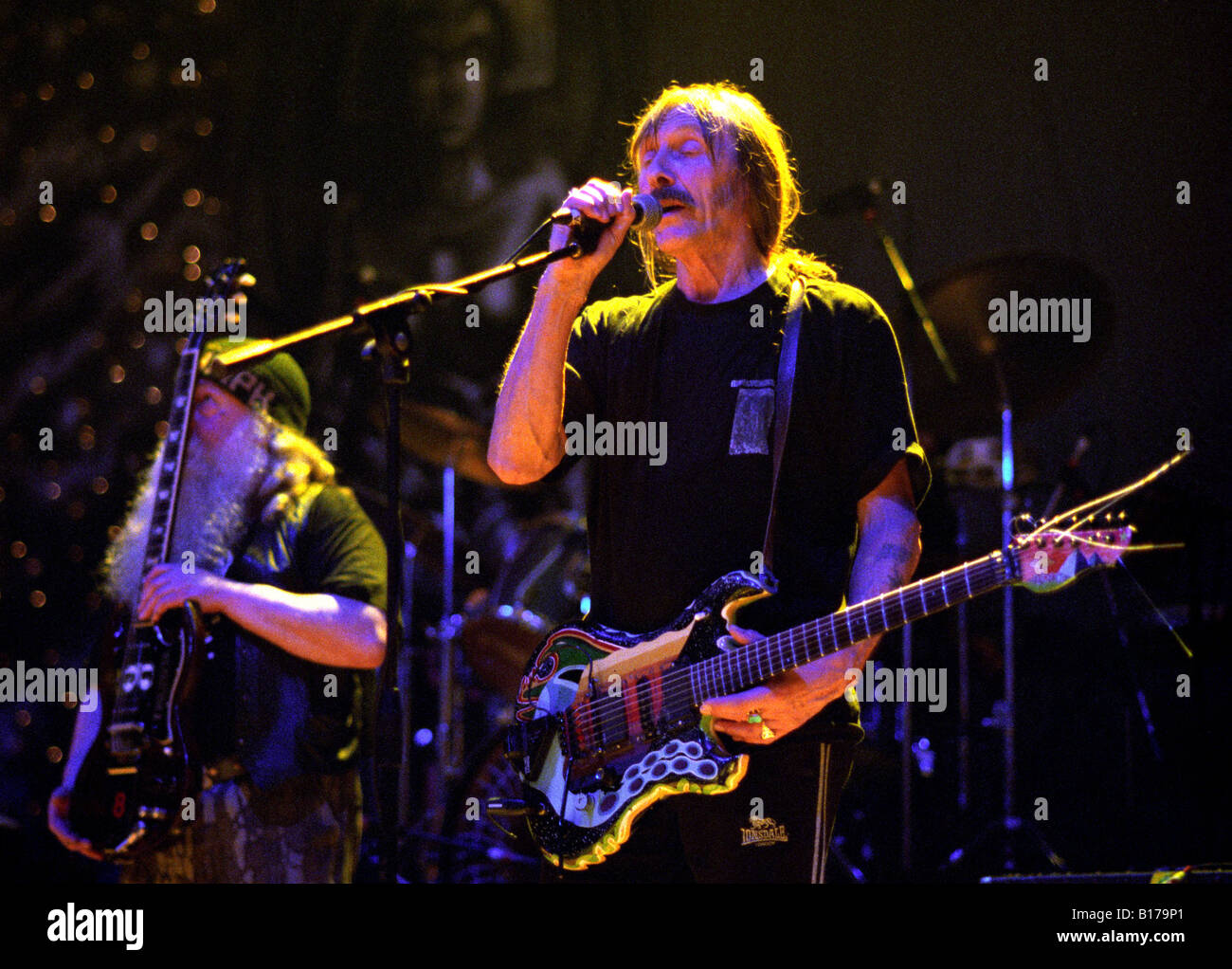 Dave Brock and Hawkwind in concert at Oakengates Theatre, Telford 2004 - Stock Image