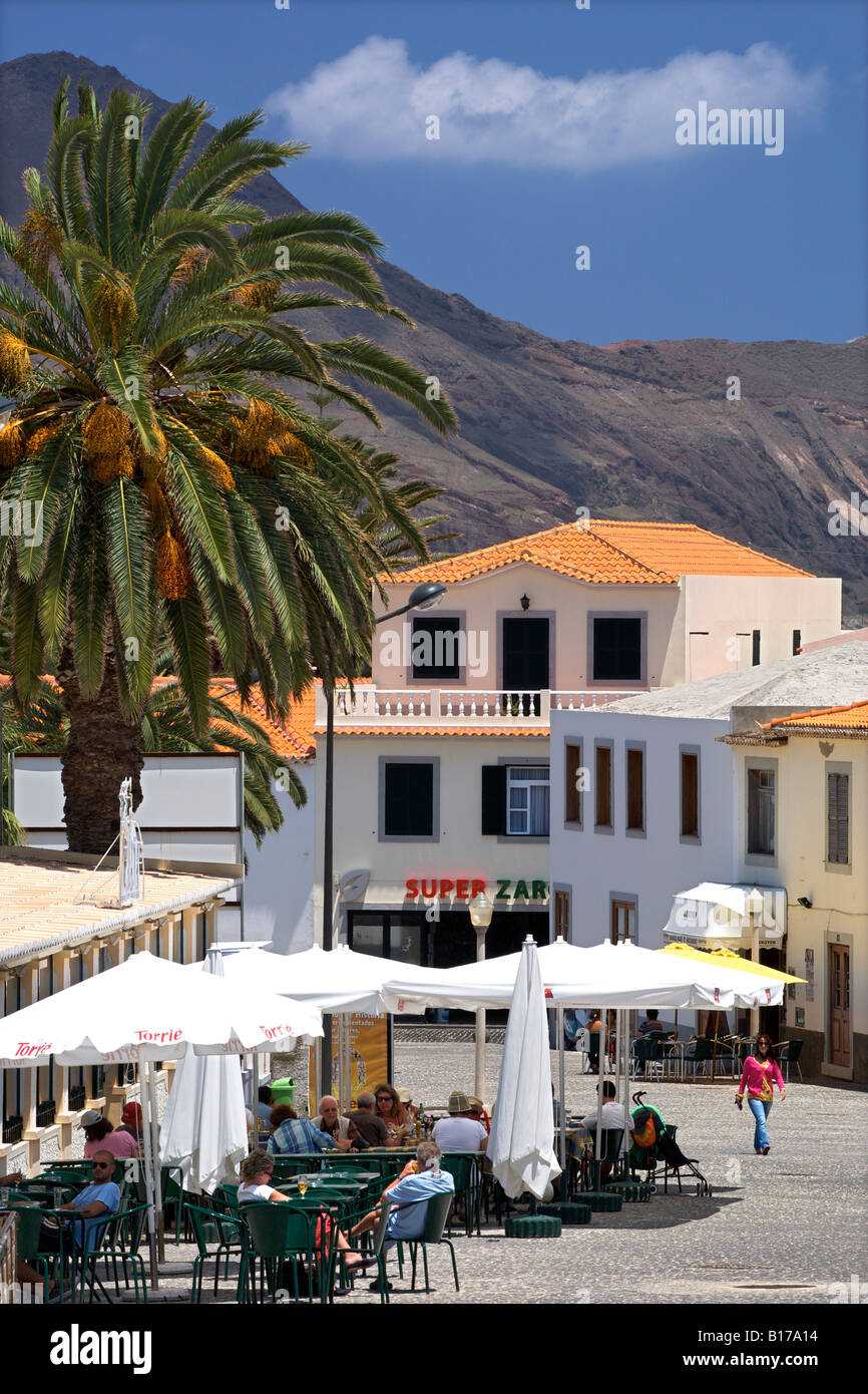The town of Vila Baleira on the Portuguese Atlantic island of Porto Santo. - Stock Image