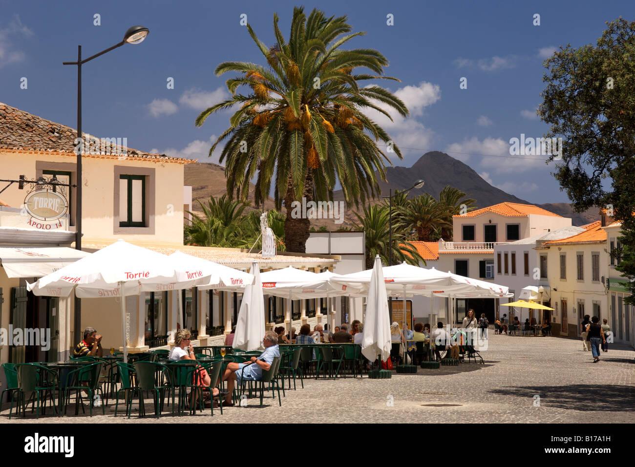 The town of Vila Baleira on the Portuguese Atlantic island of Porto Santo. Stock Photo