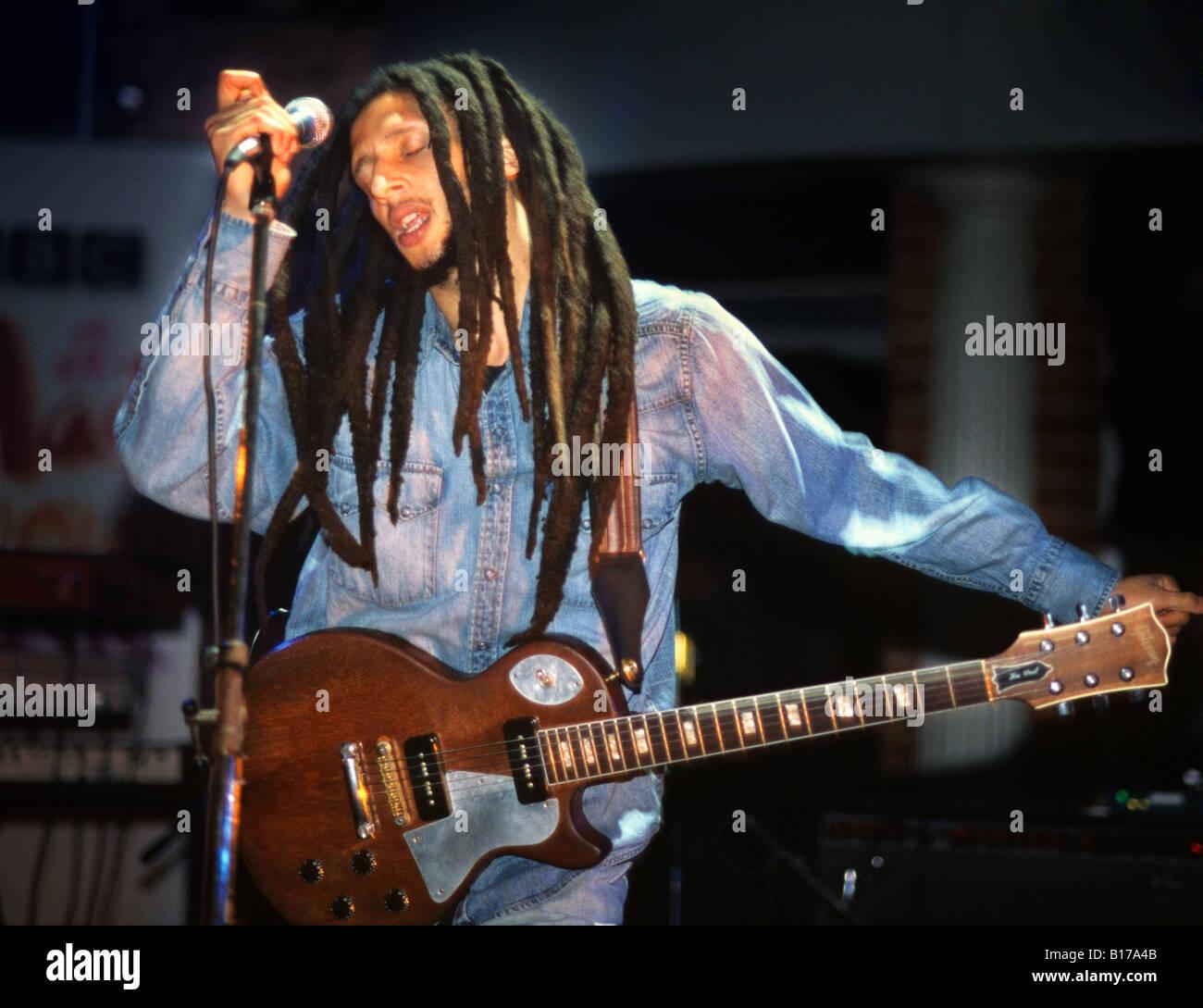 Julian Marley performs at The Buttermarket, Shrewsbury, Shropshire, England 2004 - Stock Image
