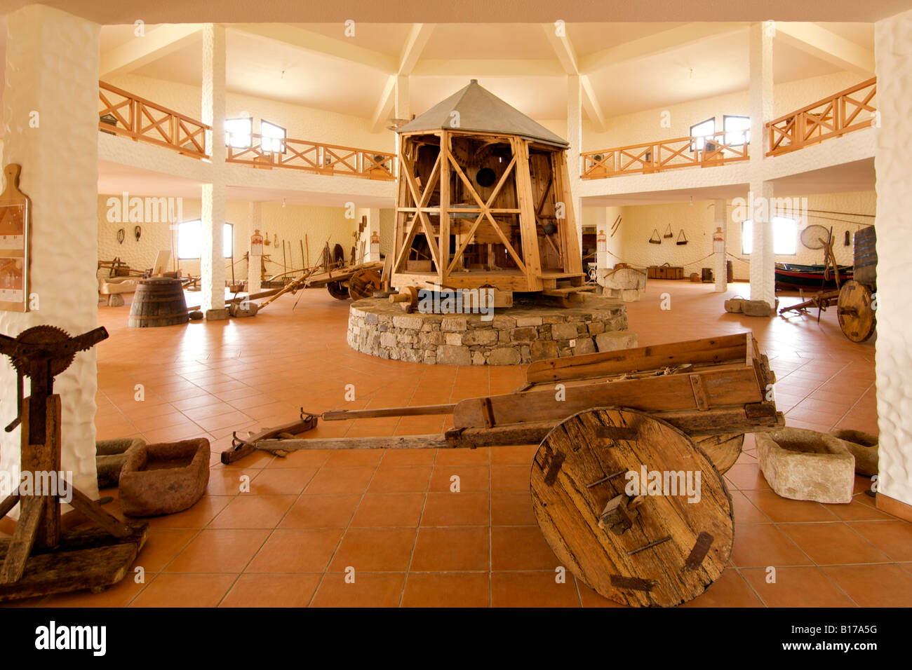 Interior of the Museu do Cardina museum on the Portuguese Atlantic island of Porto Santo. - Stock Image