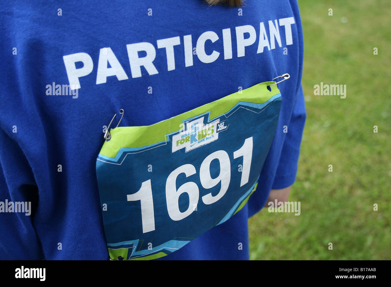 Participant 1691 at the 2nd Annual Nike 5K for Kids landscape - Stock Image