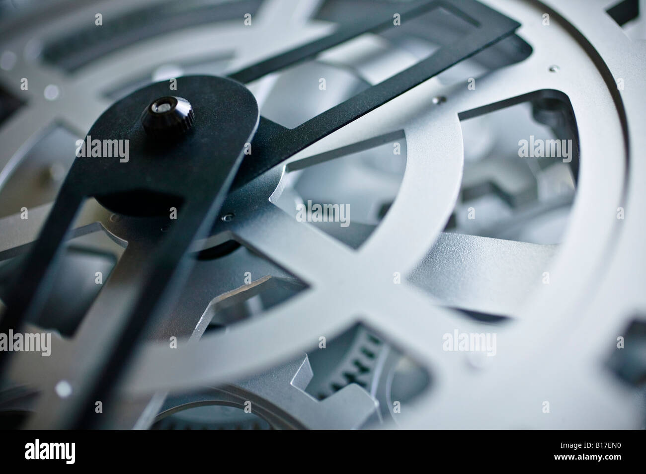Clock and gears - Stock Image