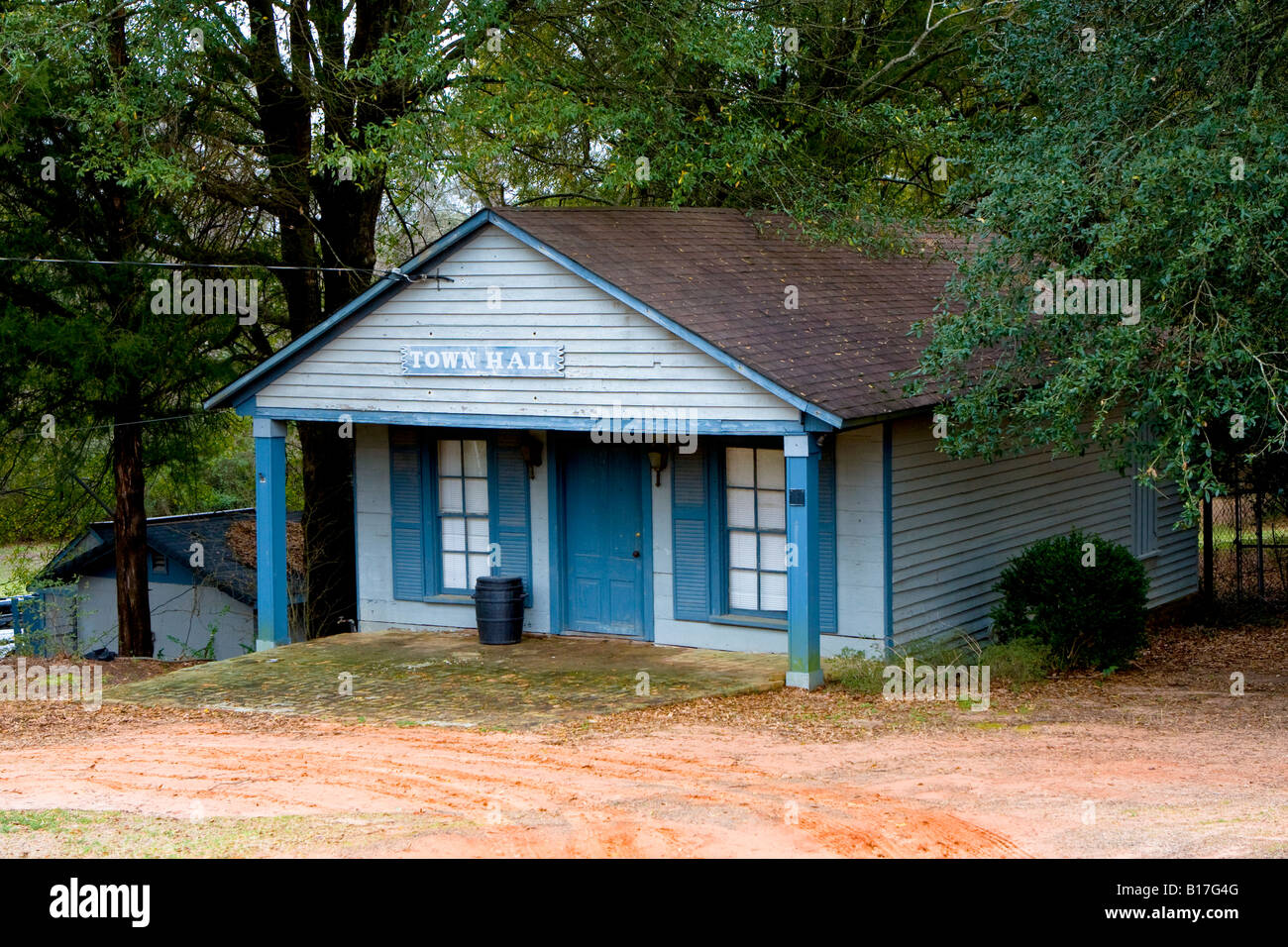 Andersonville Town Hall in Andersonville Georgia Ga USA Stock Photo