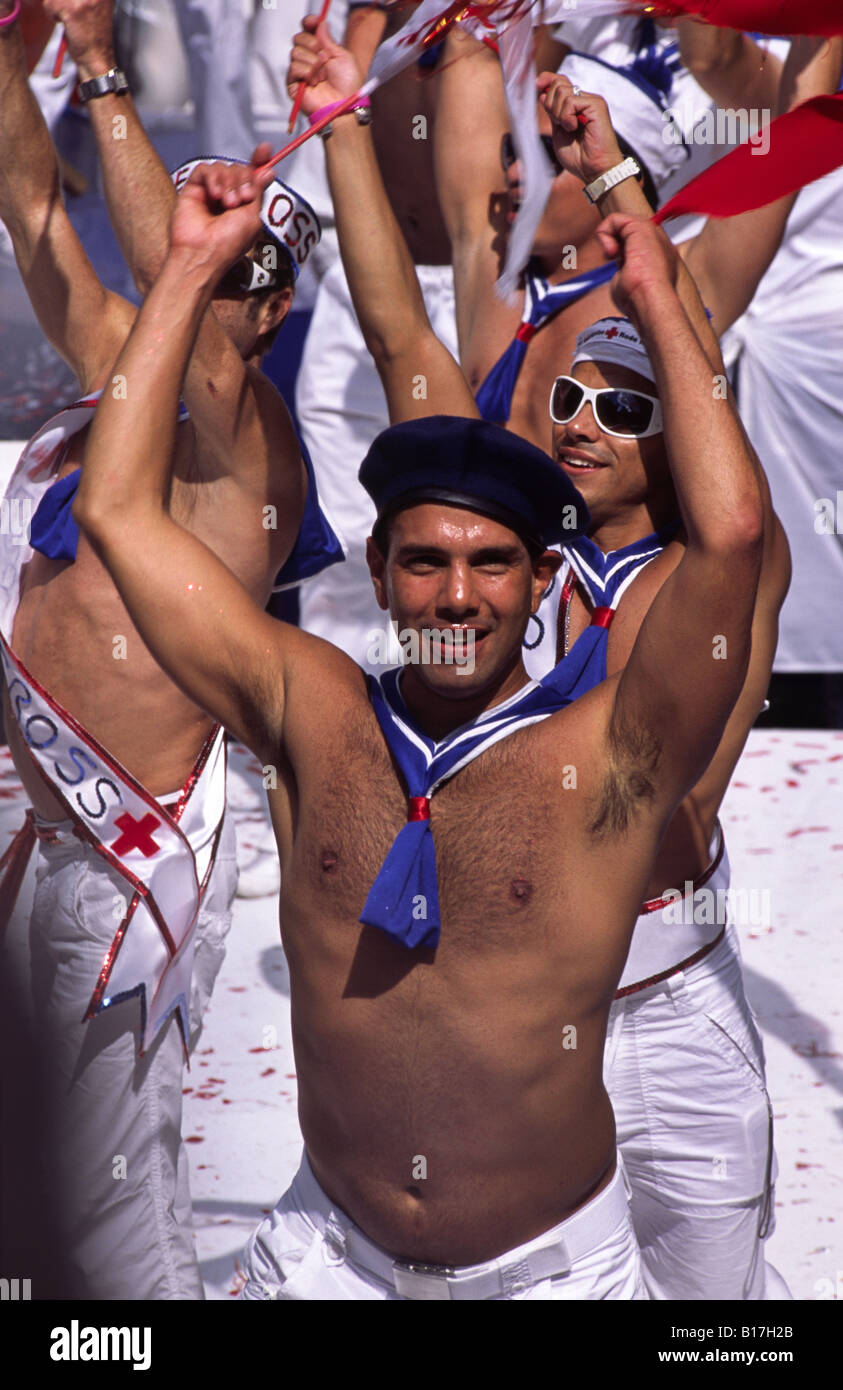 Gay Pride Canal Parade festival 2005. Amsterdam, Netherlands. - Stock Image