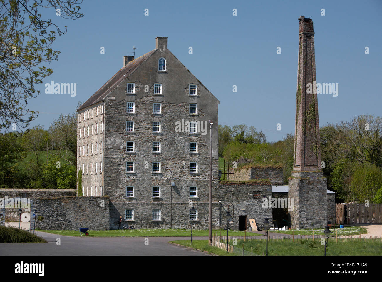 the mill at ballydugan hotel and restaurant restored flour mill county down northern ireland - Stock Image