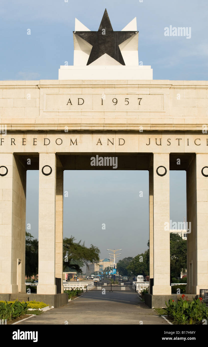 Independece arch on Independence square in Accra Ghana - Stock Image