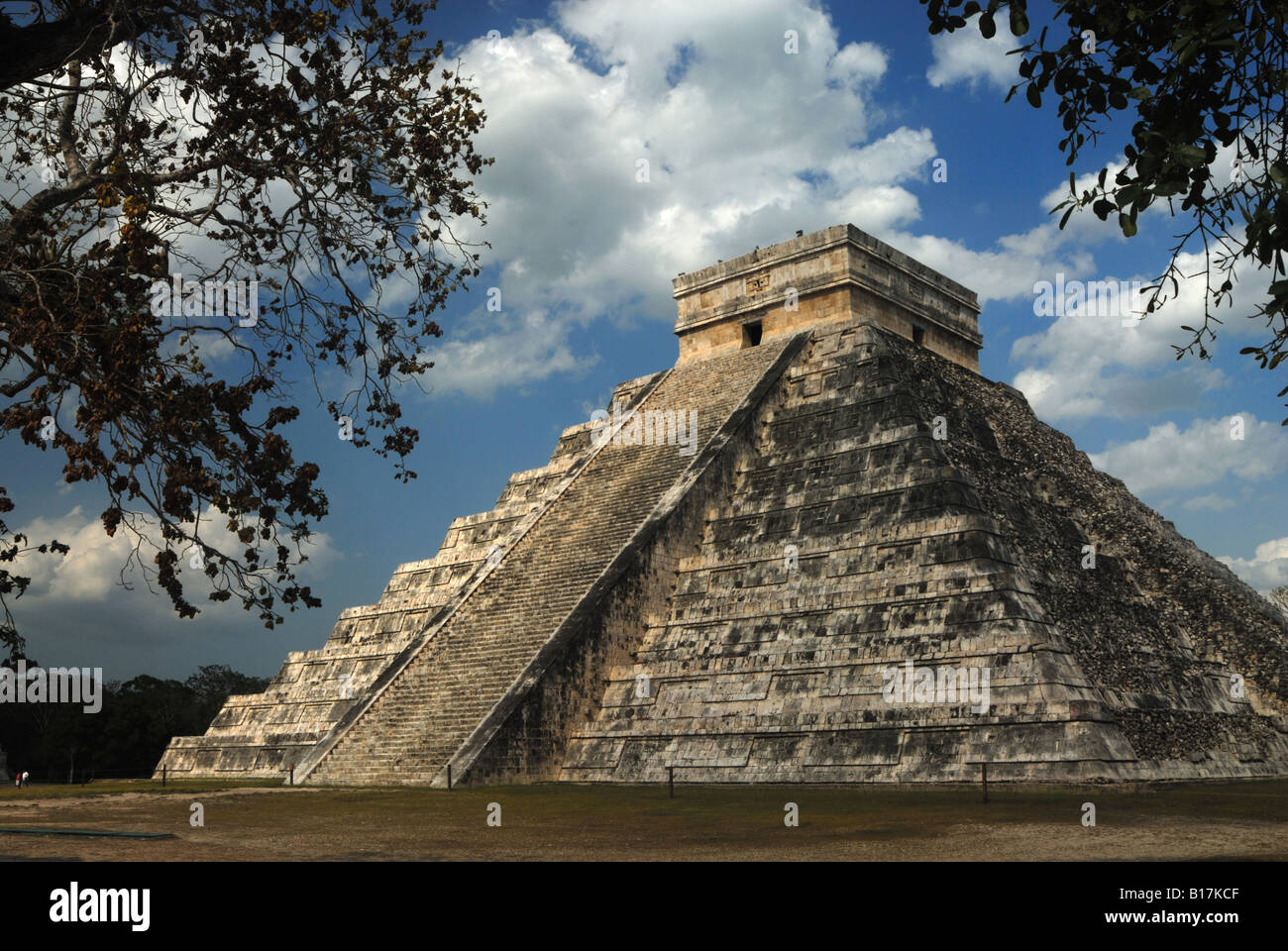 The Mayan temple of Chitchen Itza, Mexico - Stock Image
