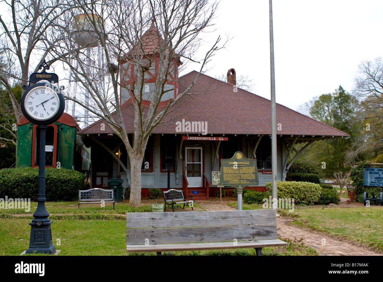 Andersonville Visitors Center in Andersonville Georgia Ga USA Stock Photo