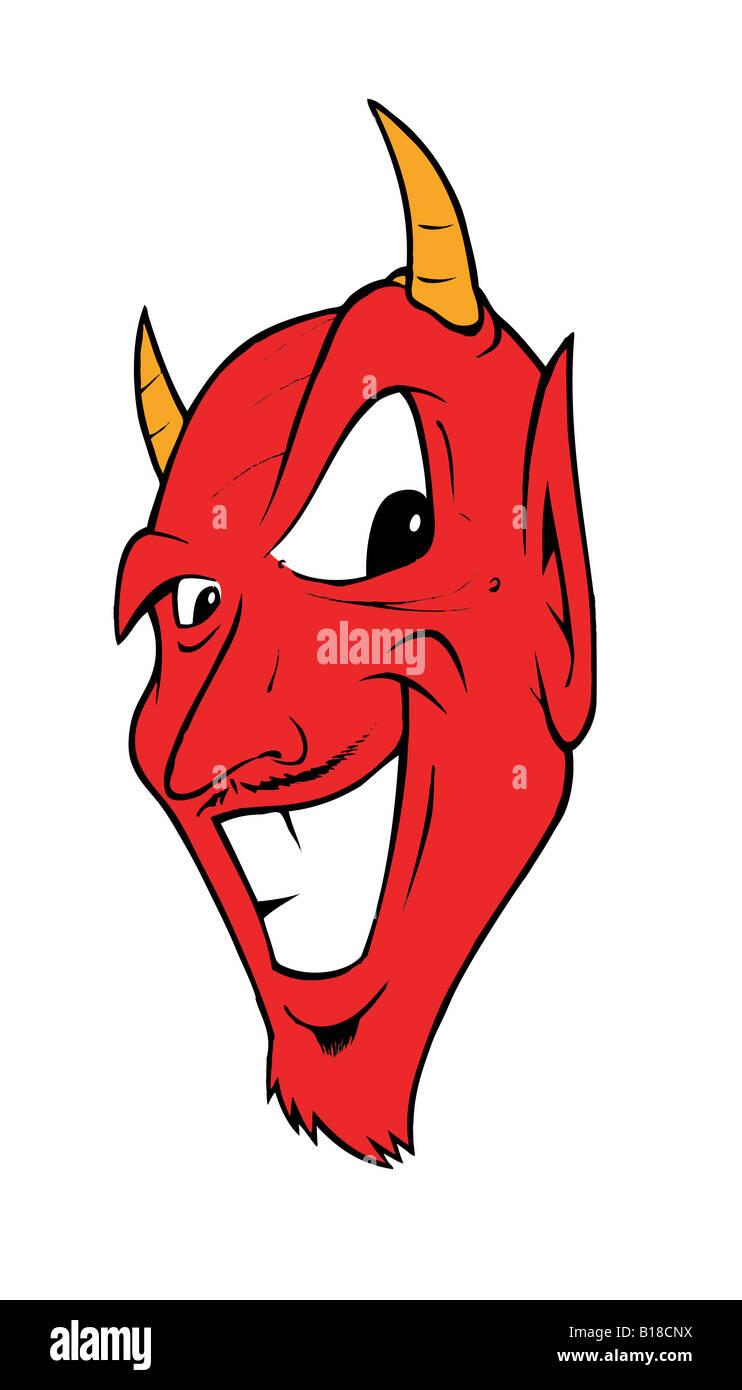cartoon illustration of a devil - Stock Image