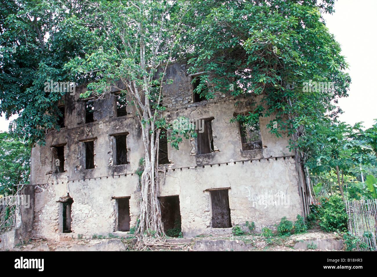 Maradoka ruins near Hell Ville, Nosy Be Madagascar - Stock Image
