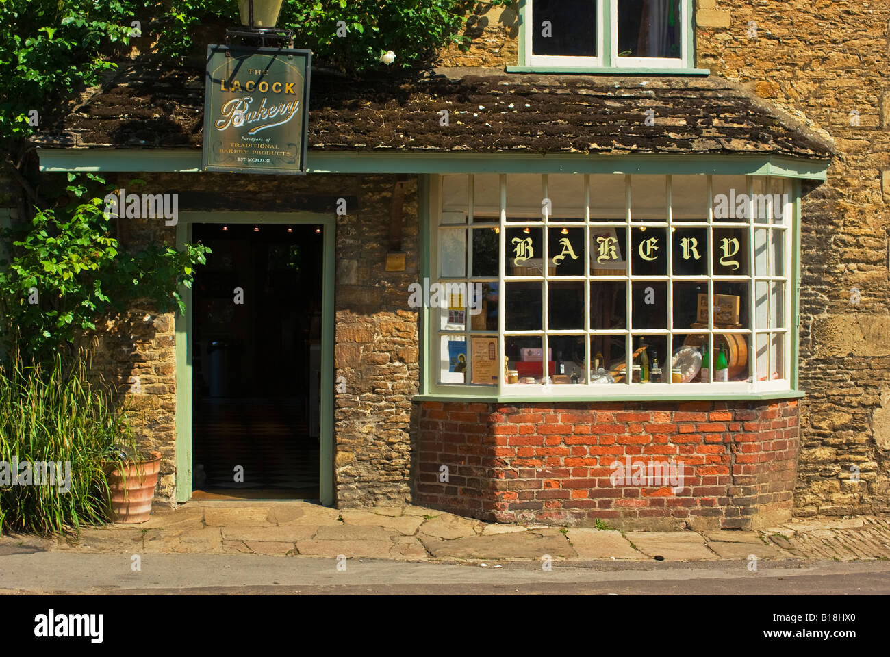 The Old Bakery Shop In Historic English Village Of Lacock