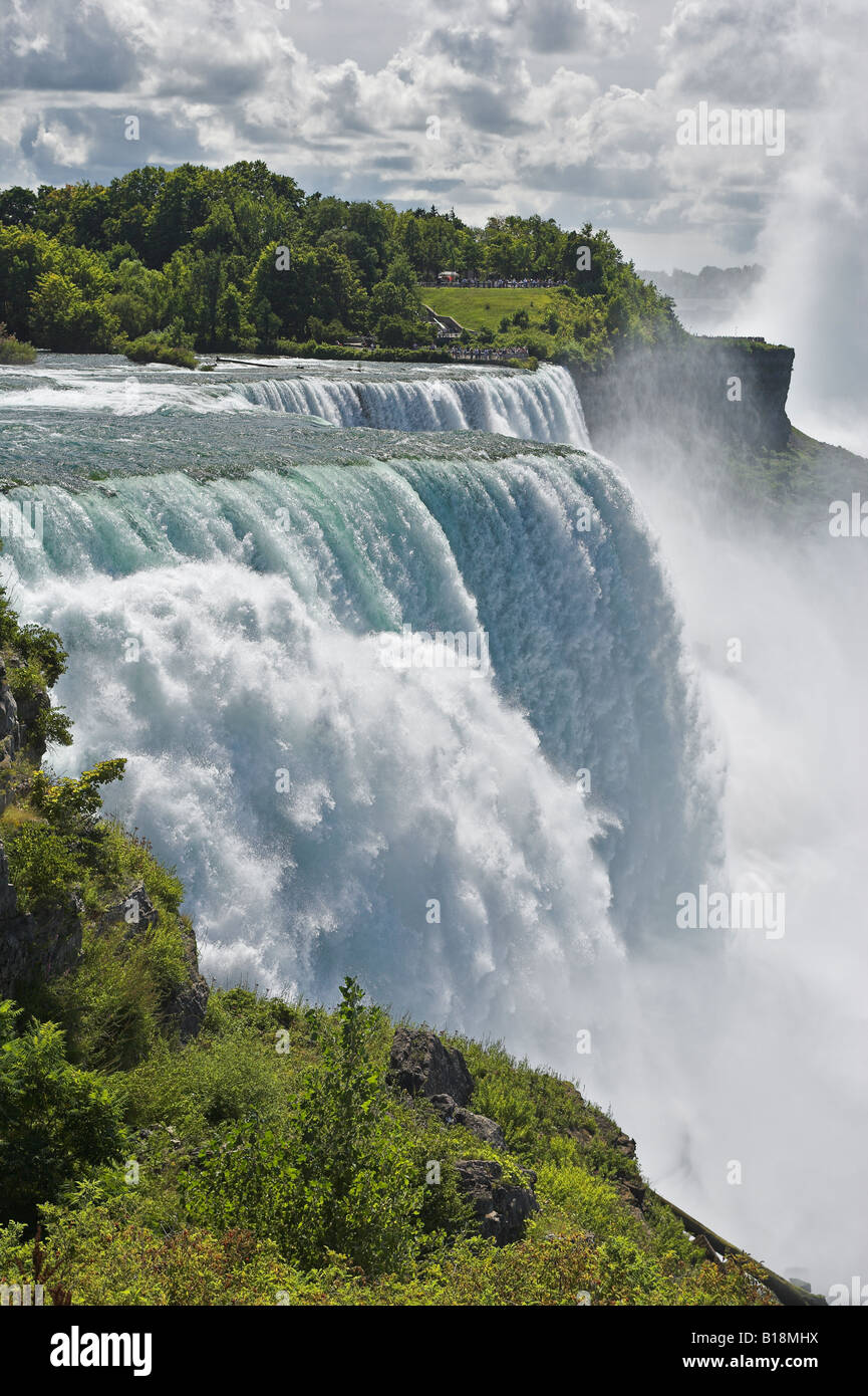 The American Falls photographed from Prospect Point - Niagara Falls New York USA - Stock Image