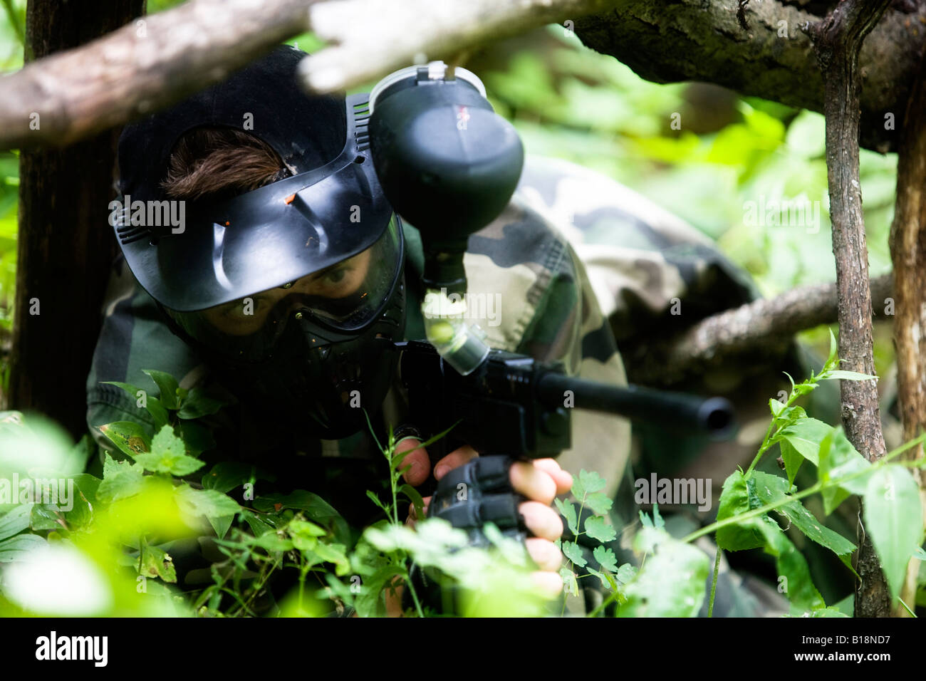 Paintball sniper - Stock Image