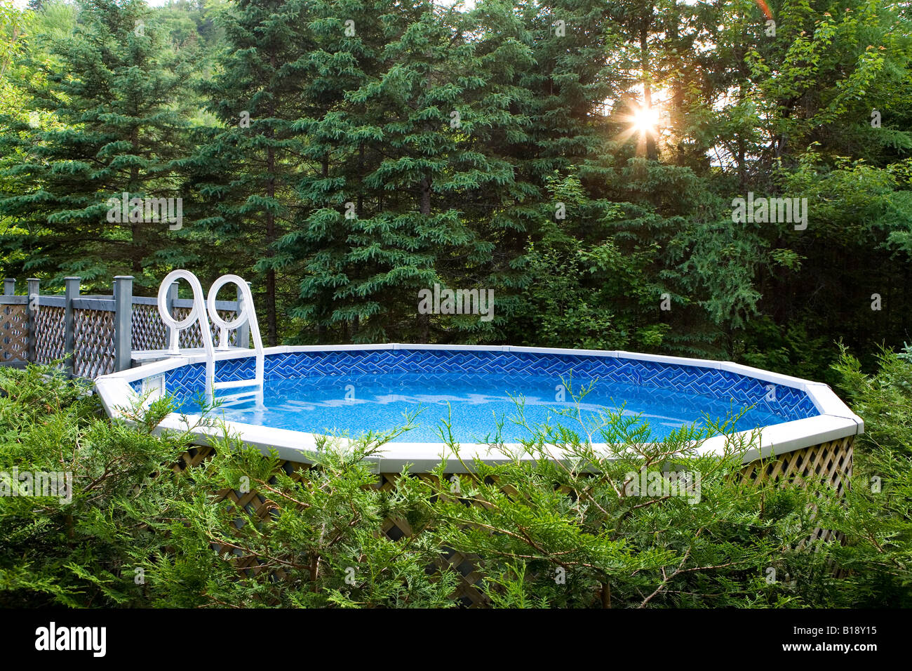 Above Ground Swimming Pool Ladder Stock Photos Above Ground Swimming Pool Ladder Stock Images