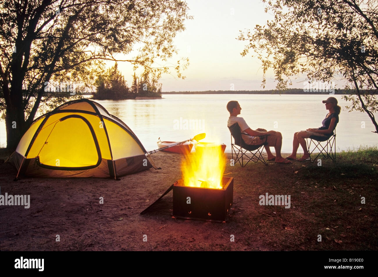 Otter Falls campground, Whiteshell Provincial Park, Manitoba