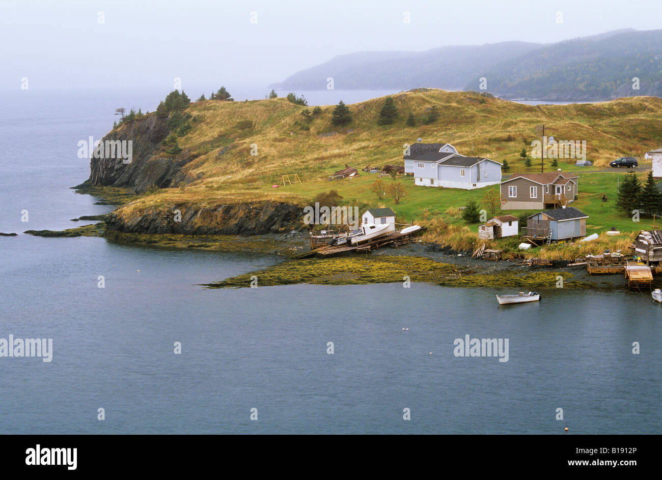 Fishing village of Harbour Mille East, Burin Peninsula, Newfoundland, Newfoundland and Labrador, Canada. Stock Photo