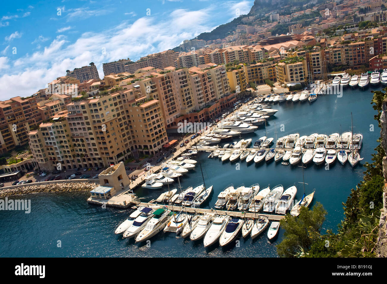 MONACO, MONTE CARLO. Fontvieille. Luxury bay in Monte Carlo Principality Monaco Europe - Stock Image