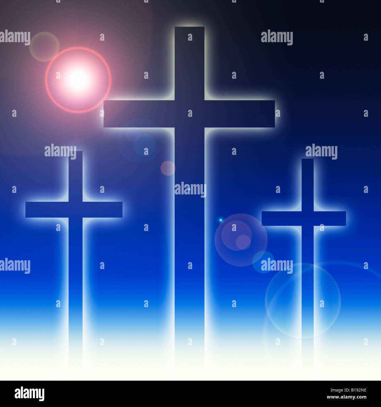Three crosses - Stock Image