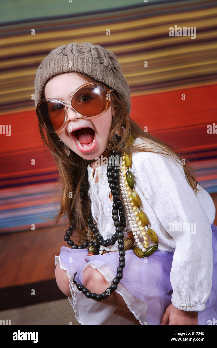 Girl dressing up - Stock Image
