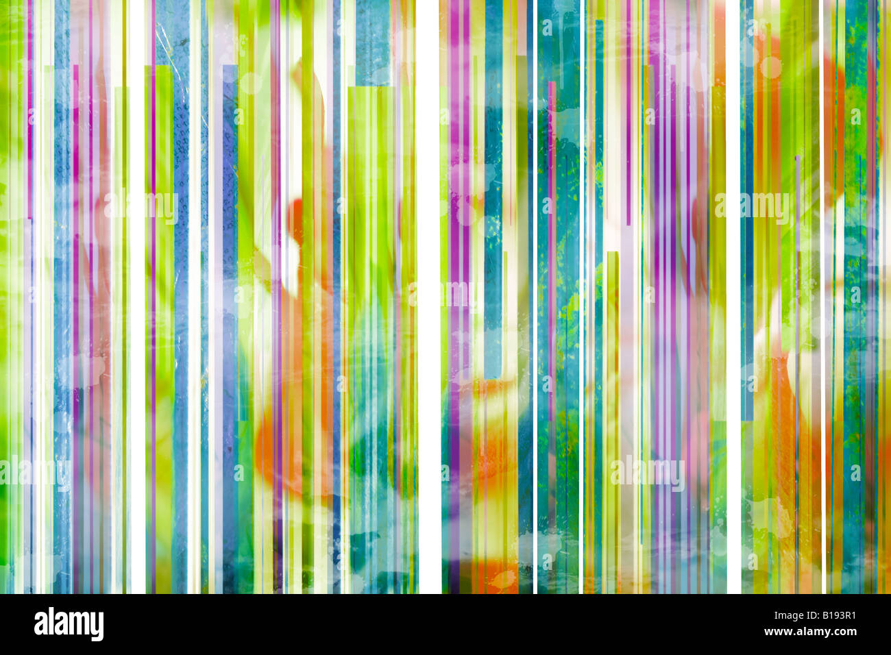 Lines of different colors - Stock Image