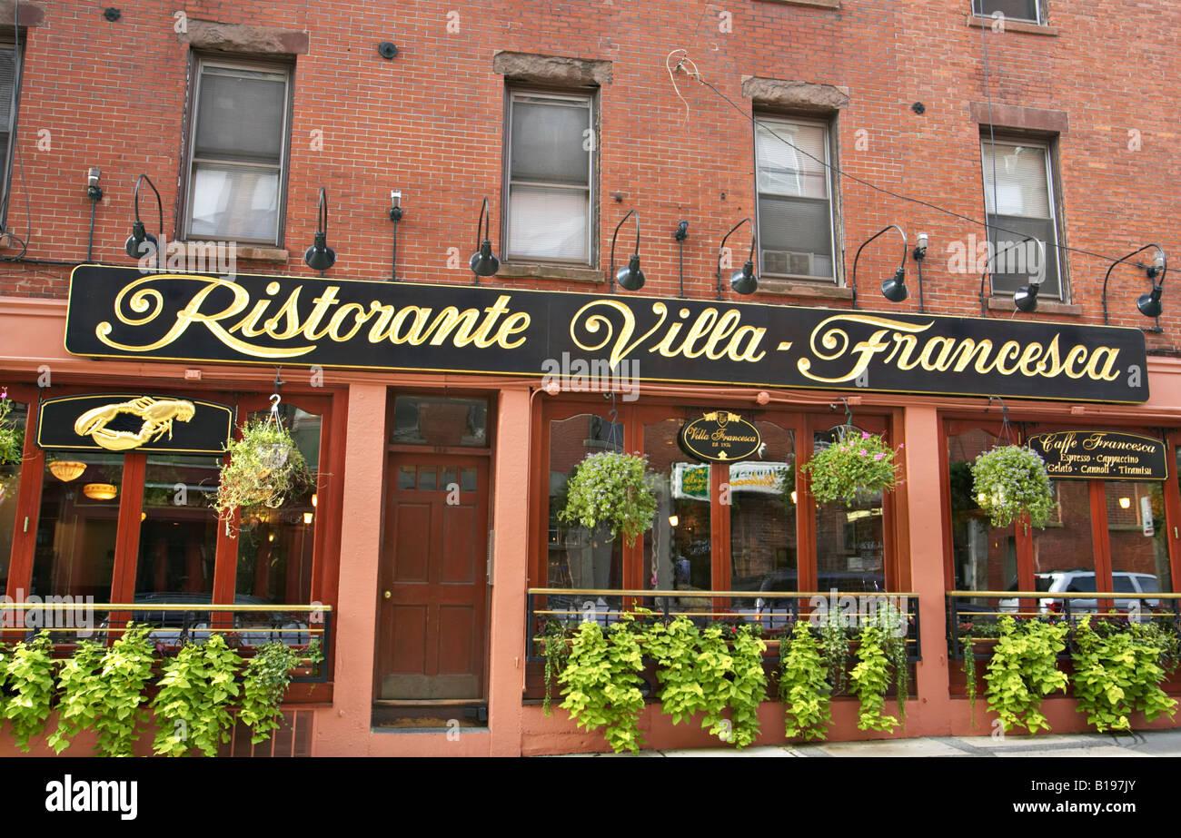 Massachusetts Boston Ristorant Villa Francesca In North End Italian