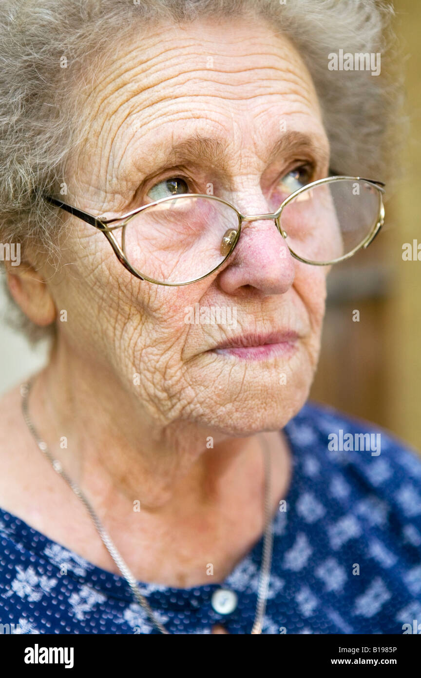81 Years Old Woman  Montreal  Quebec  Canada Stock Photo
