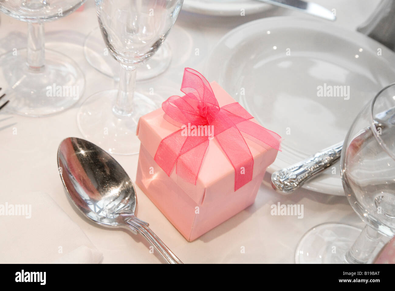 Wedding Table Set Out Pink Stock Photos & Wedding Table Set Out Pink ...