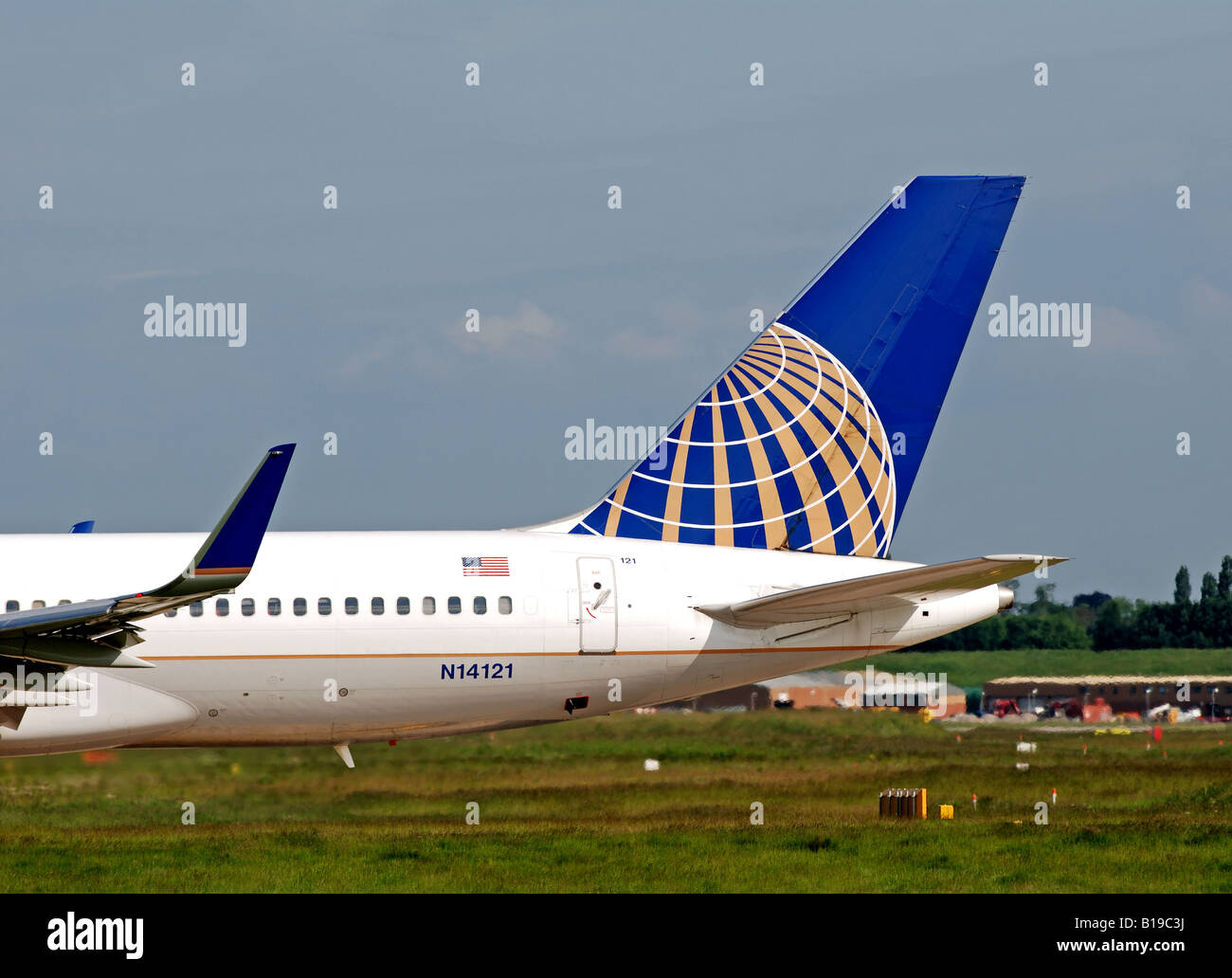 Continental Airlines Boeing 757 aircraft at Birmingham International Airport, UK - Stock Image
