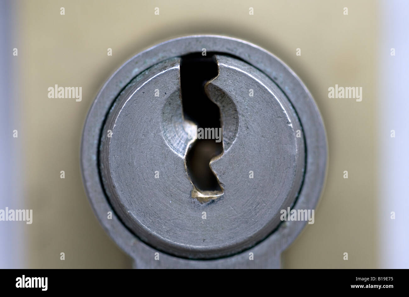 Front Door Key Hole   Stock Image