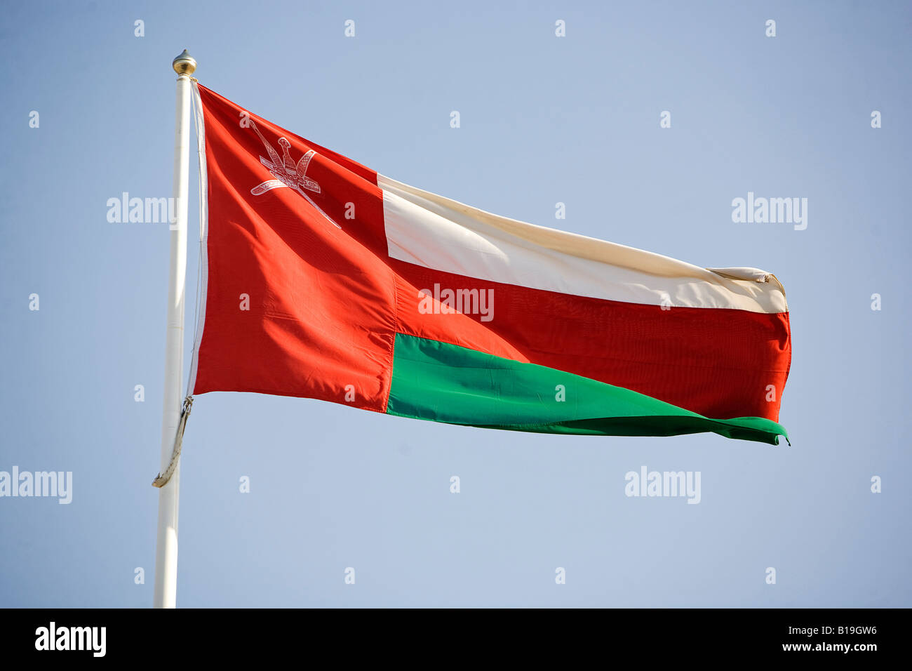 Oman  The National Flag - this flag contains the country's