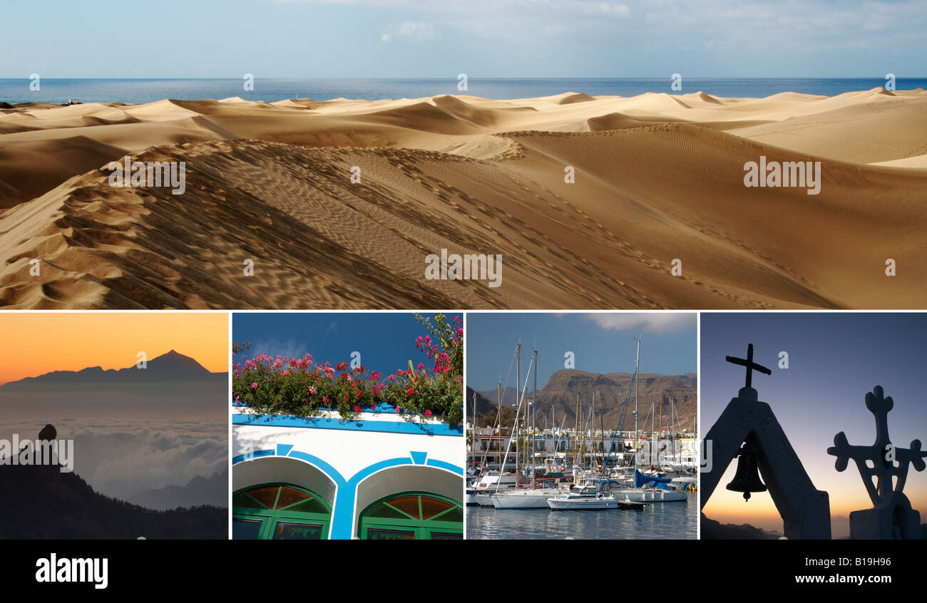 Composite image of Gran Canaria, Canary Islands, Spain - Stock Image