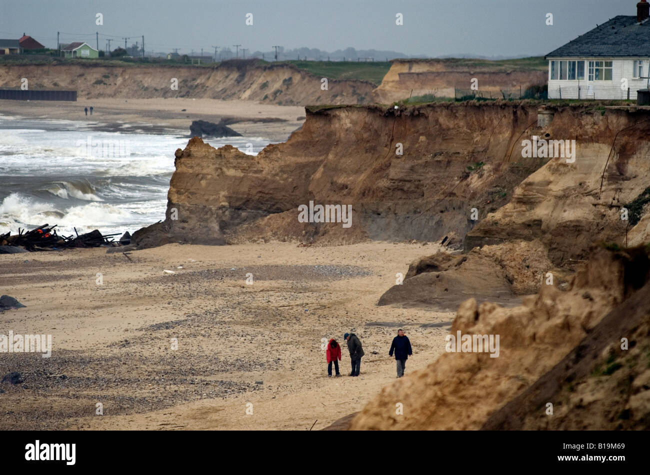 sea  Coastal Erosion managed Retreat Happisburgh - Stock Image