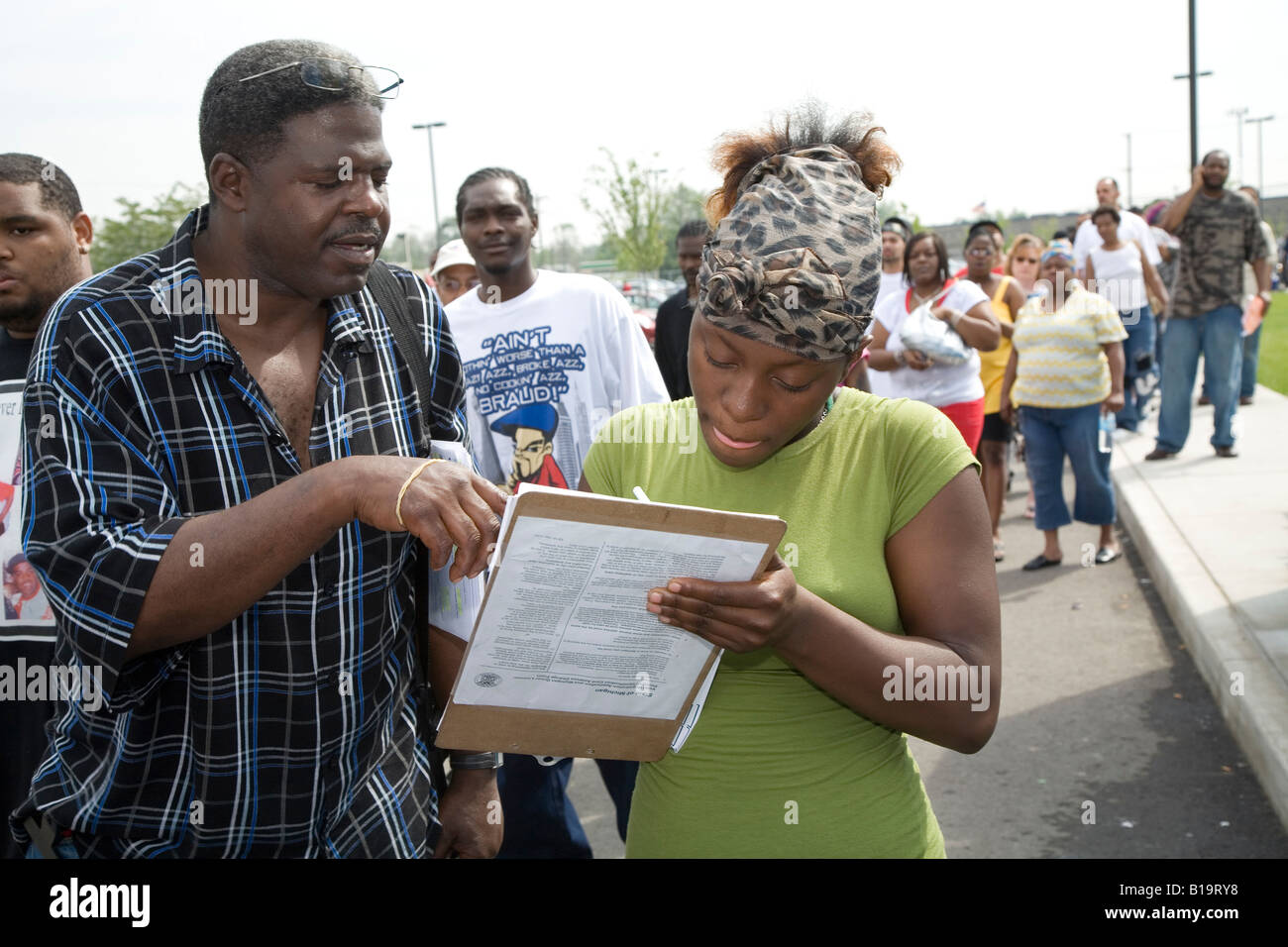 Voter Registration - Stock Image
