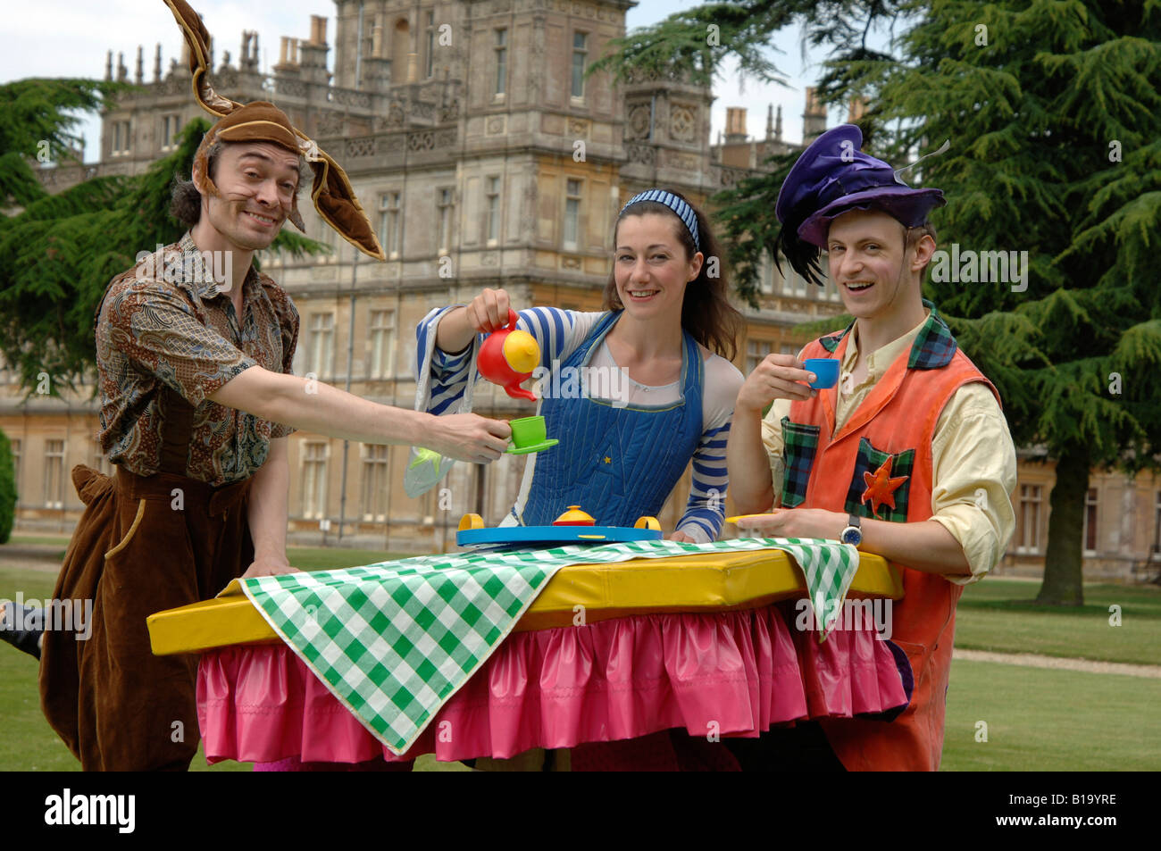 Alice in Wonderland tea party - Stock Image