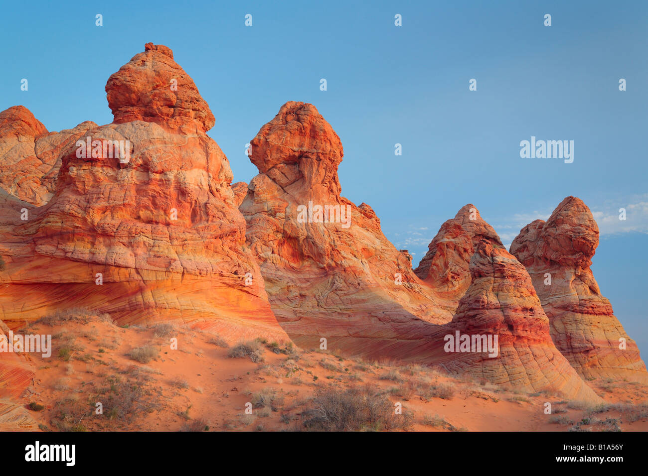 Cottonwood Teepees in Vermilion Cliffs National Monument, Arizona - Stock Image
