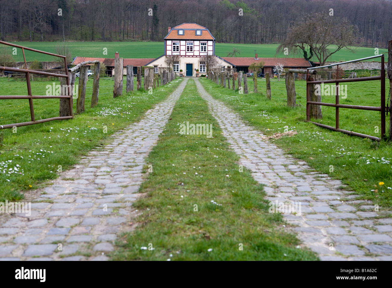 Life in the country the dream of the house of one s own Leben auf dem Lande der Traum vom eigenen Haus Laves culture - Stock Image