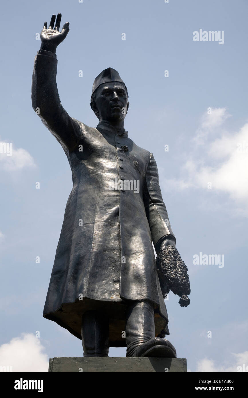 A statue of the first Prime Minister of Independent India Jawaharlal Nehru. - Stock Image