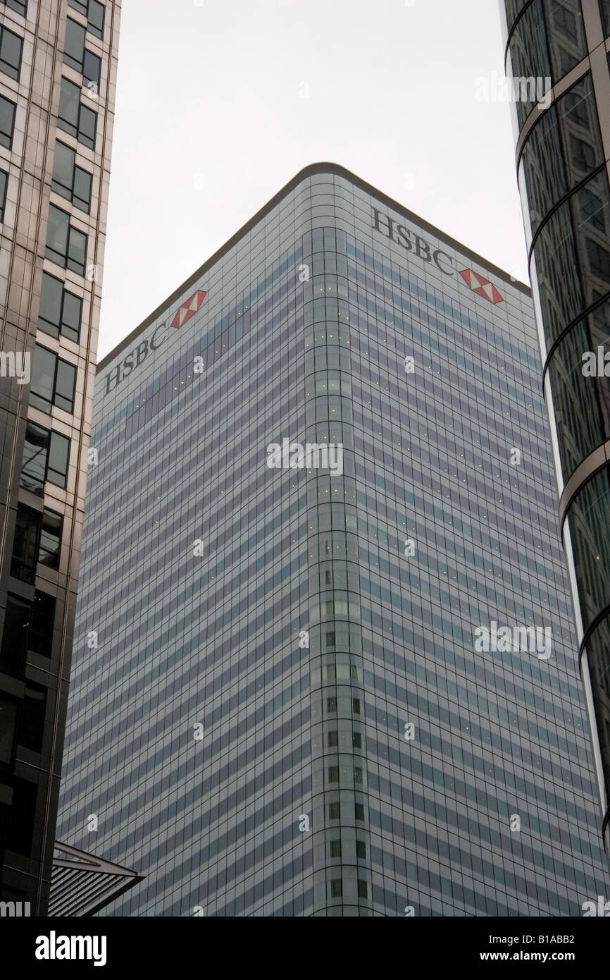 The HSBC Office in London. It is one of many financial institutions in the city. Stock Photo