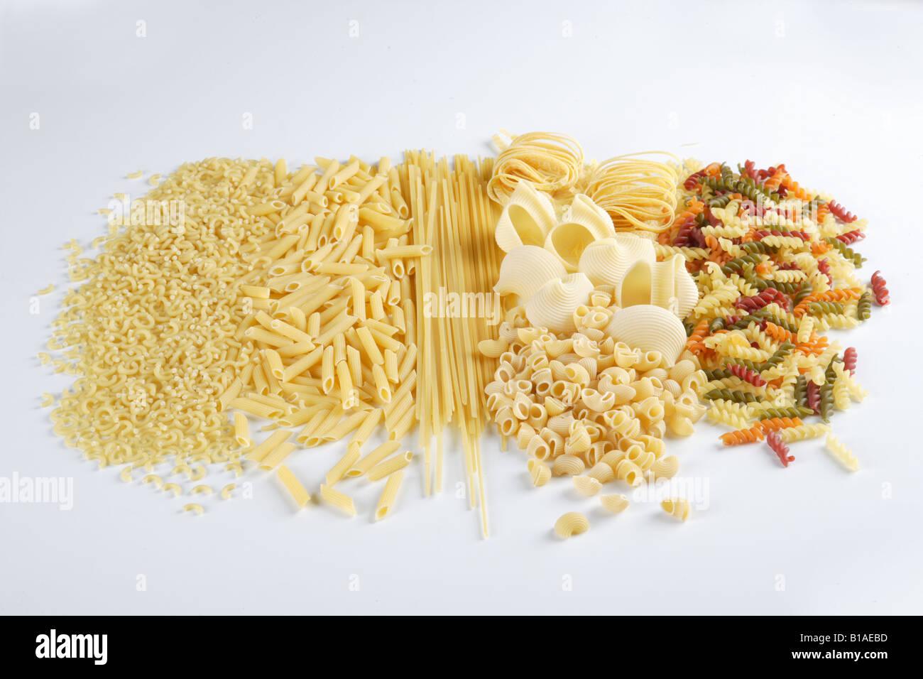Still lifes of pasta - Stock Image