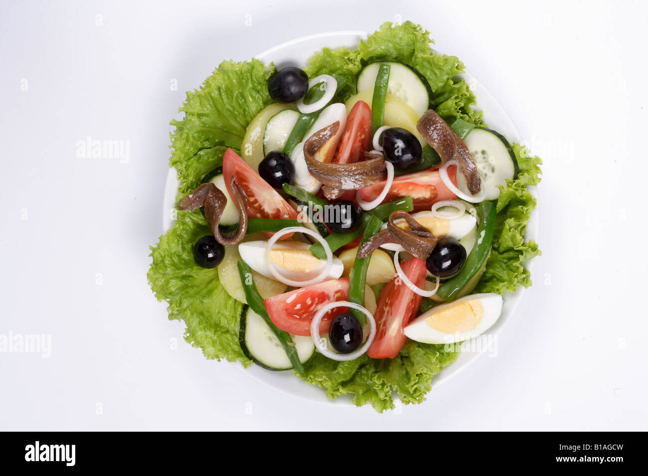 Niza salad - Stock Image