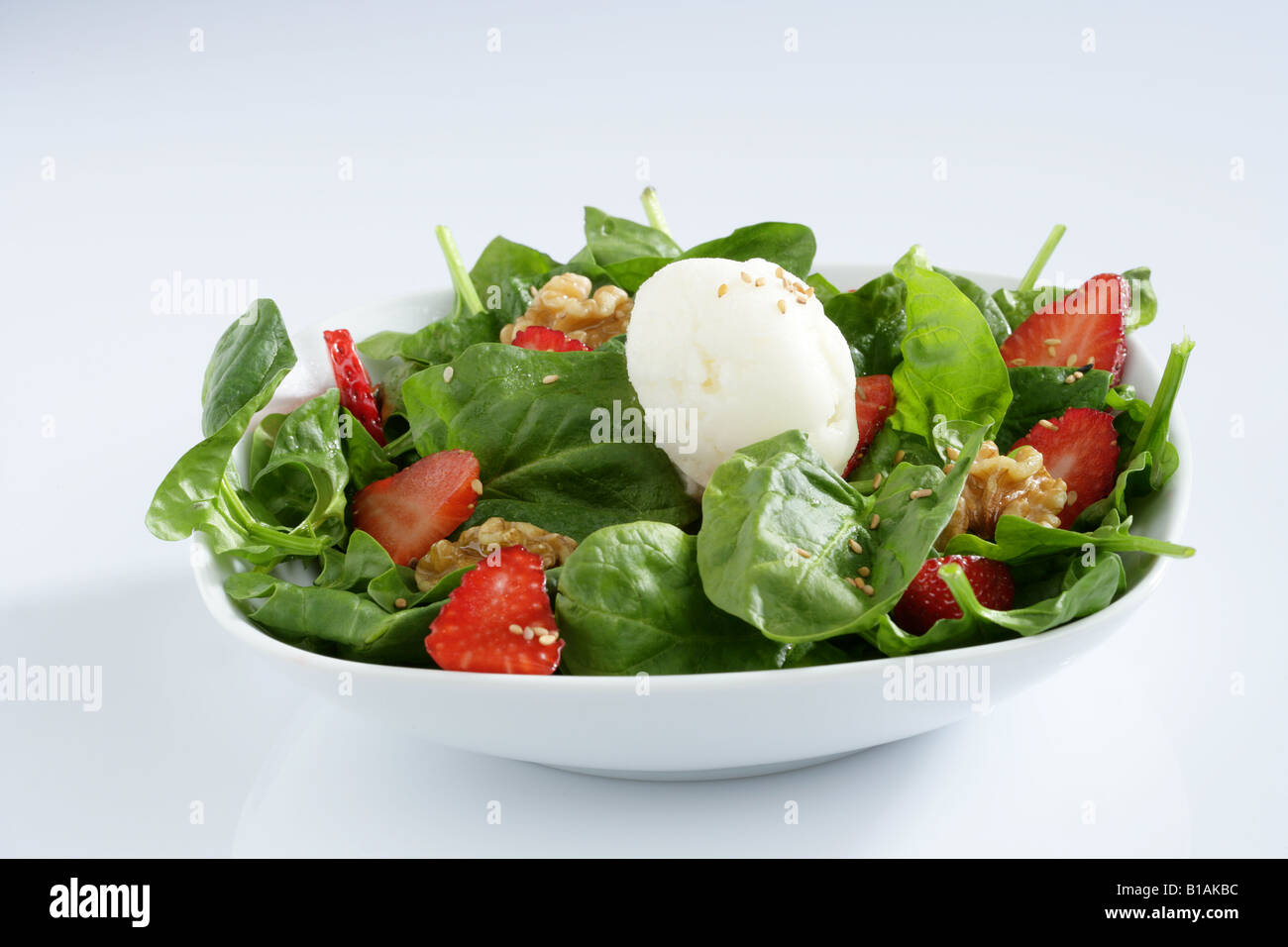 Florentine's salad with ice cream - Stock Image