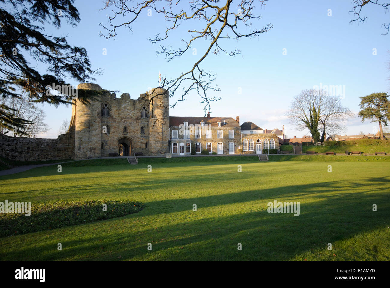England, UK,  Kent, Tonbridge Castle - Stock Image