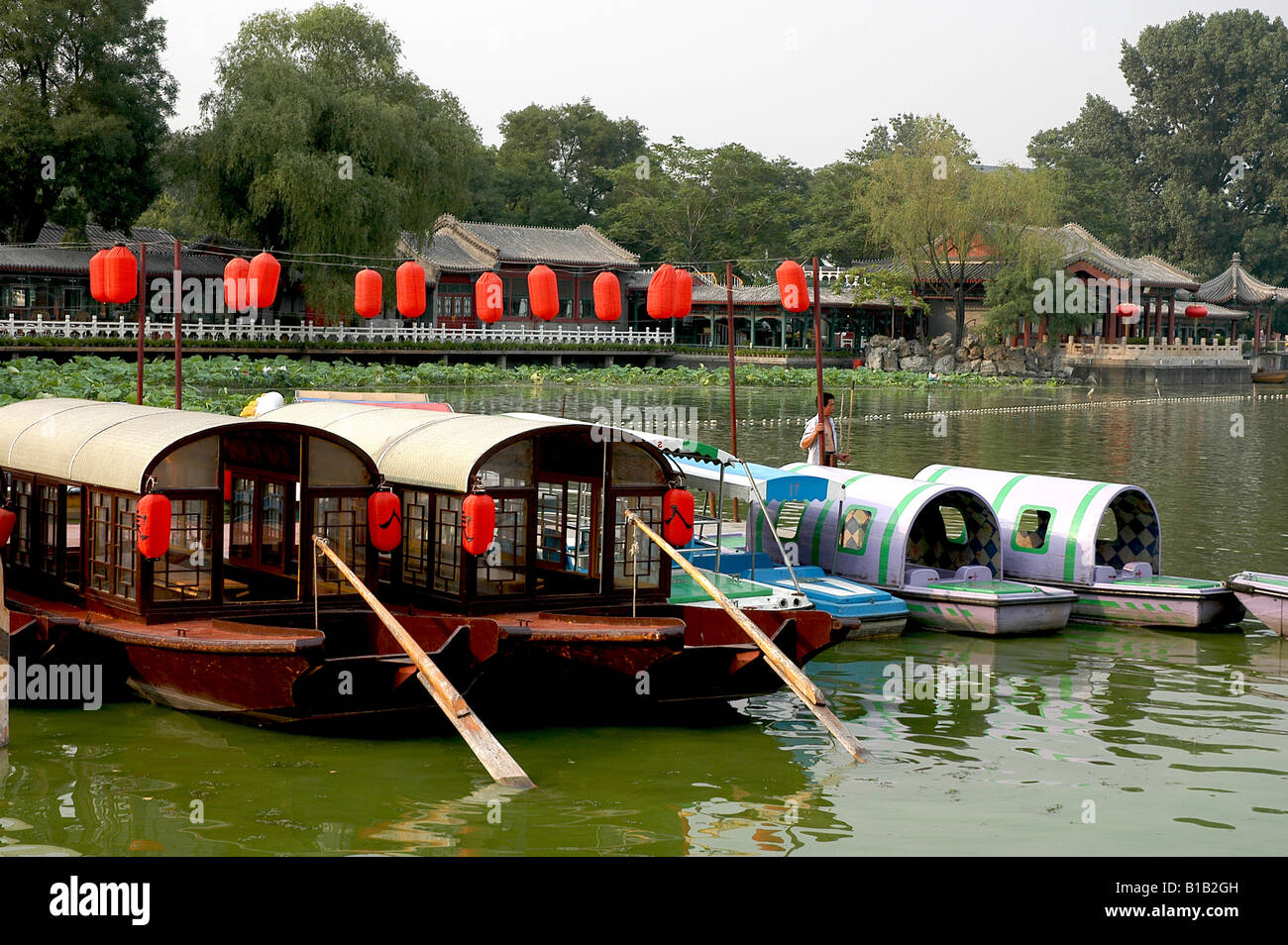 boats on Grand Canal,China - Stock Image