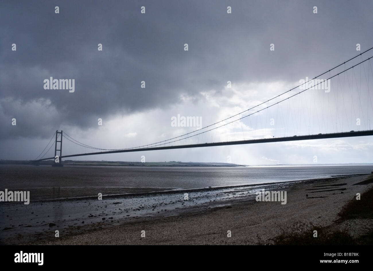 The Humber Bridge, England Stock Photo
