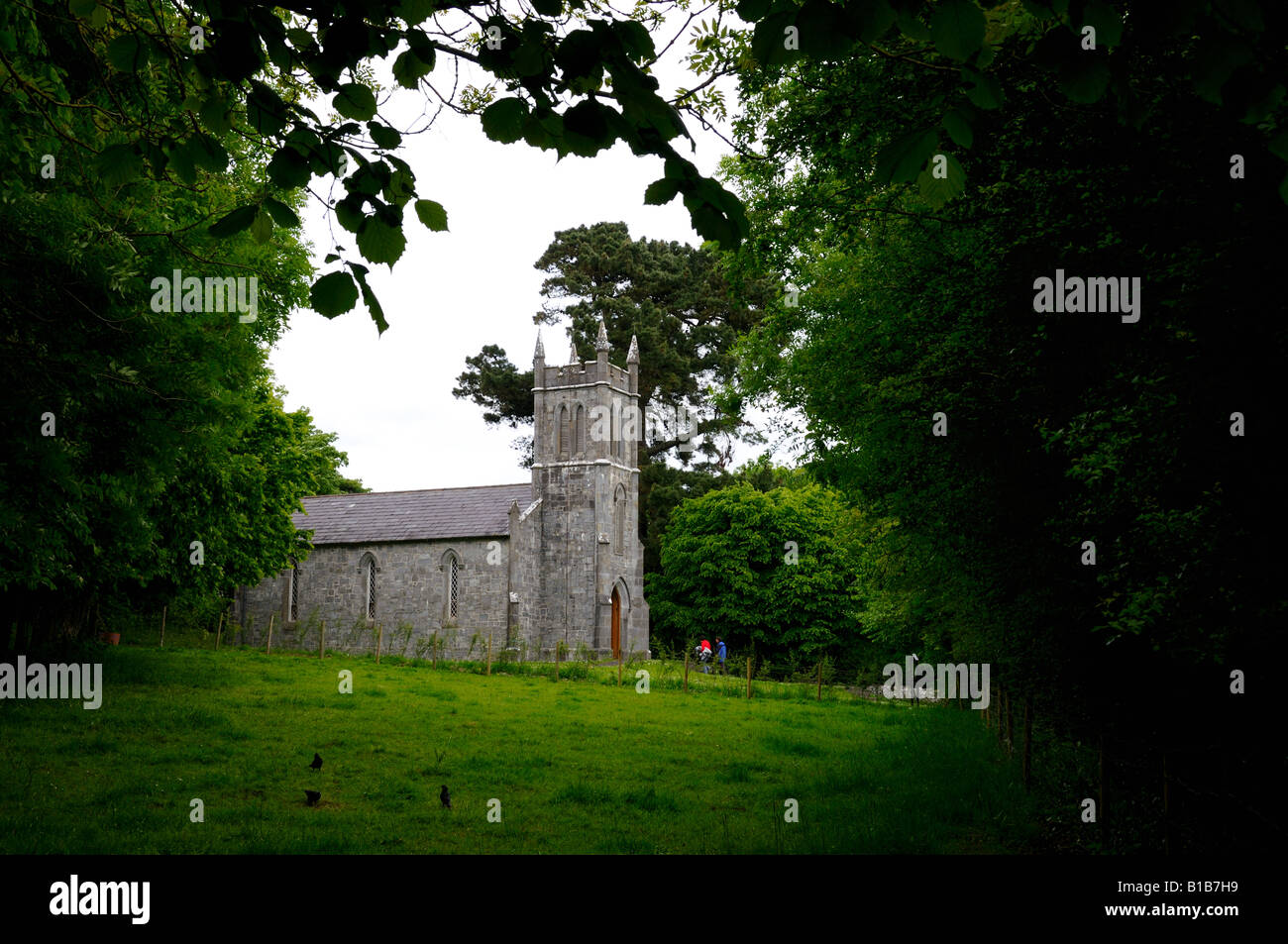 A church in Irish countryside. County Clare, Ireland. - Stock Image
