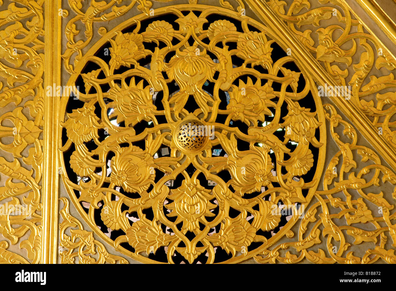 detail of the Minbar in the Blue Mosque in Istanbul - Stock Image